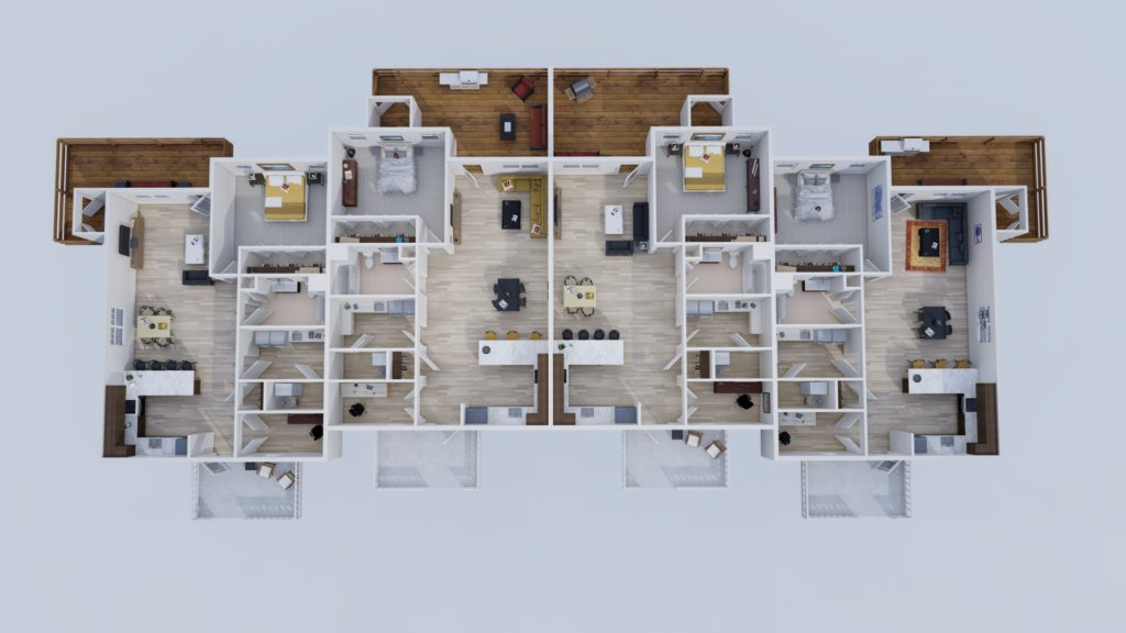 Residential Quads Floorplan Layout Ken Anderson Alliance Commons at Springfield